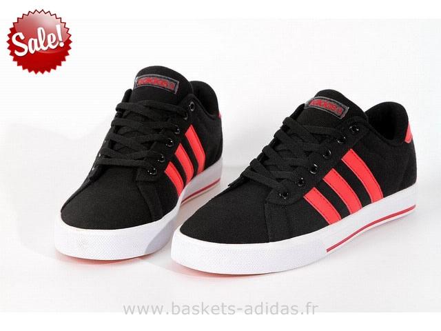 adidas neo noir et rouge