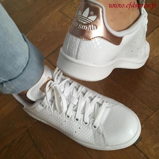 adidas stan smith gold femme